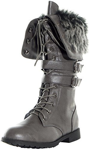 Women's Shanghai Military Combat Lace Up Winter Boots - Jazame, Inc.