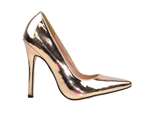 Women's Lala-4 Metallic Pointy Toe Pump Shoes - Jazame, Inc.