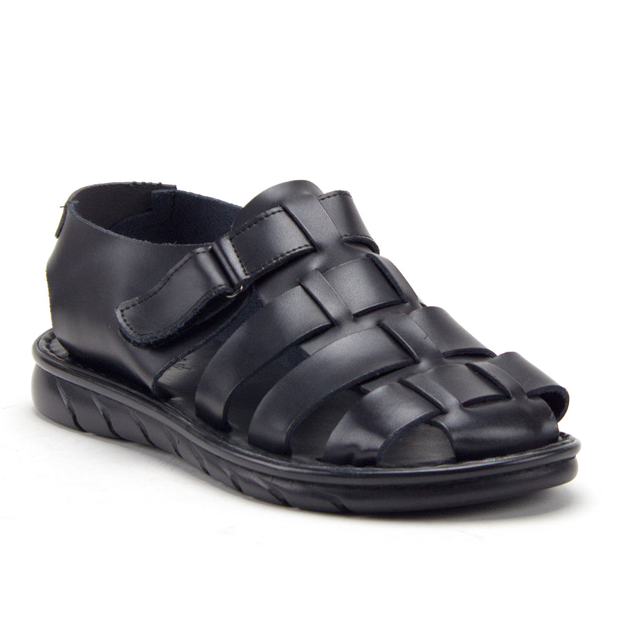 Men's 69211 Closed Toe Covered Strap Adjustable Leather Fisherman Sandals - Jazame, Inc.