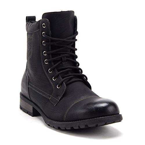 Men's 661 Tall Military Fashion Cap Toe Lace Up Combat Motorcycle Boots - Jazame, Inc.