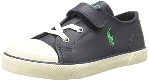 Polo Ralph Lauren Kids Carson EZ Leather Sneaker (Toddlers) - Jazame, Inc.
