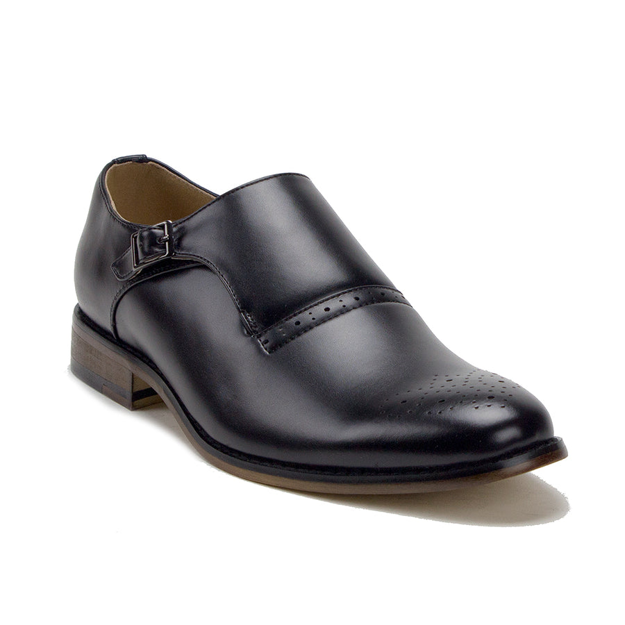 Men's Monk Strap Slip On Single Buckle Round Toe Loafers Dress Shoes - Jazame, Inc.