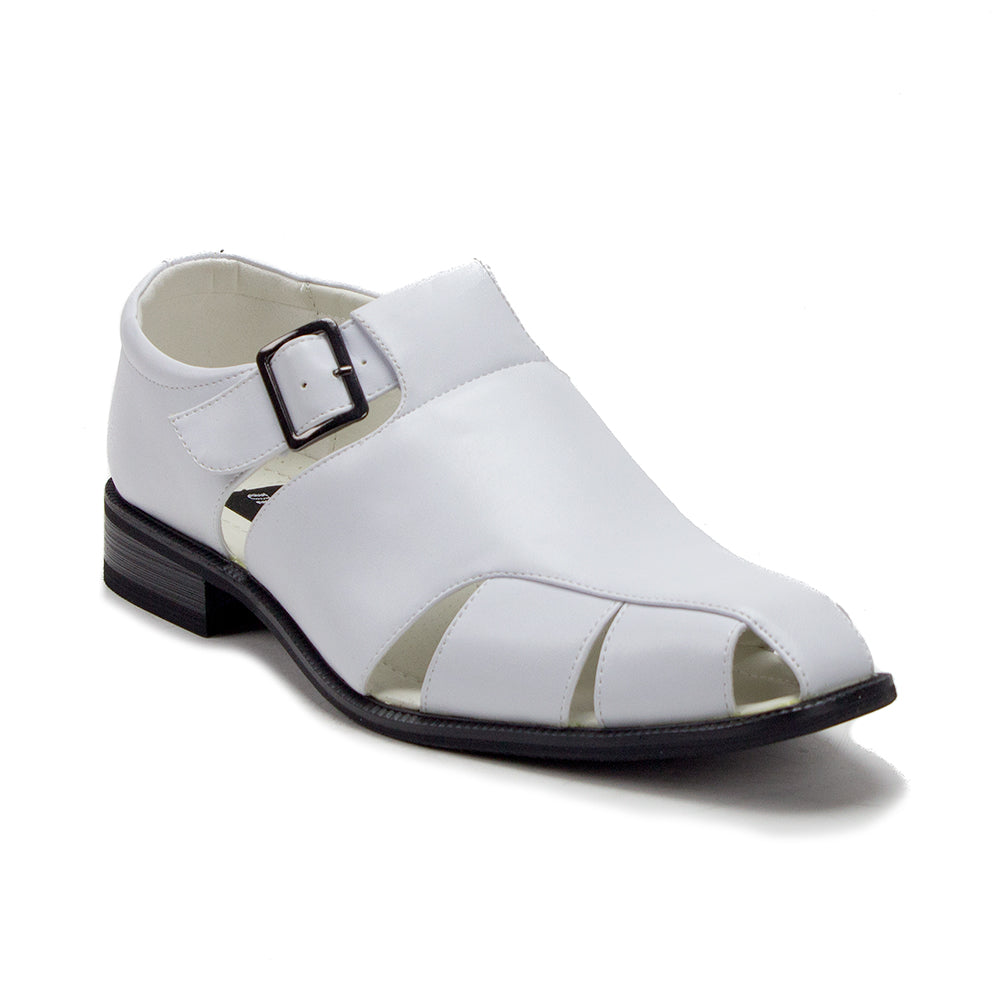 2a12934936a502 ... Men s VW160 Closed Toe Vented Belted Dress Sandals - Jazame