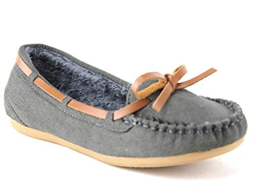 Women's WM Warm Fur Lined Winter Moccasin Flats Shoes - Jazame, Inc.