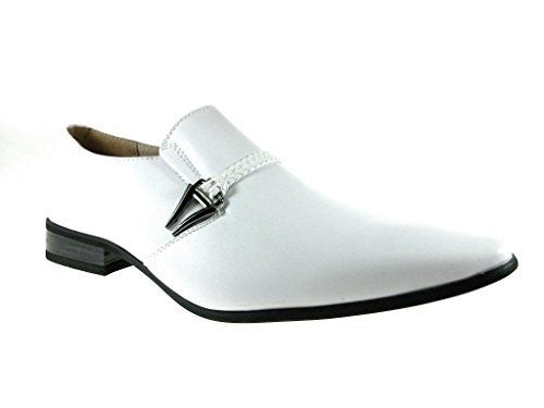 Men's 98105 Classic Slip On Pointed Toe Loafer Dress Shoes - Jazame, Inc.
