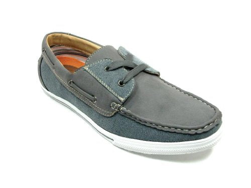 Men's 30182 Moccasin 2 Eye Lace Up Casual Sneaker Shoes - Jazame, Inc.