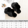 LIBWYS Women's Cross Band Soft Plush Slippers Open Toe Fuzzy Fluffy Furry Fur House Shoes, Memory Foam Anti-Slip Indoor Outdoor Slippers