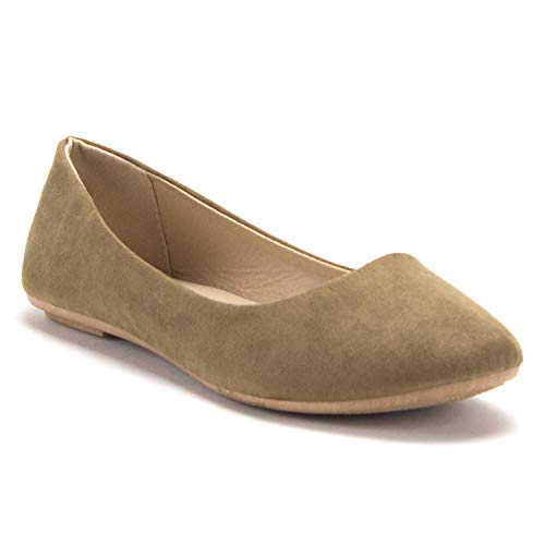 Women's Demi-01Classic Round Toe Slip On Ballet Flats Shoes - Jazame, Inc.