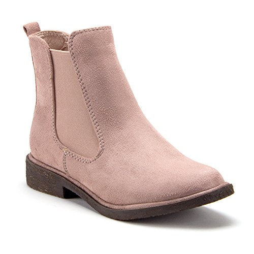 Women's Tempt-1 Menswear-Inspired Ankle High Suede Slip On Chelsea Boots - Jazame, Inc.