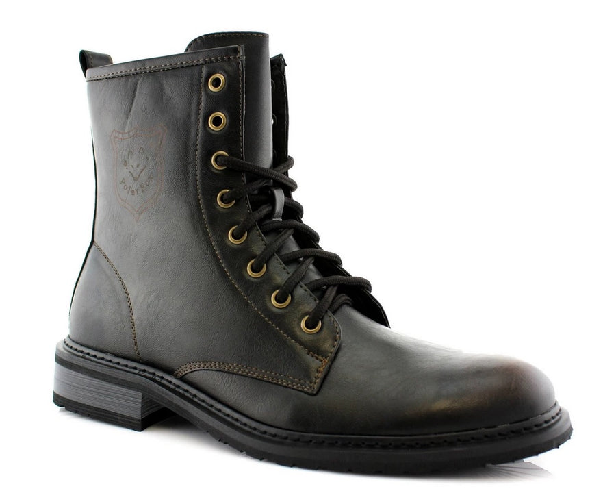 Men's 919674 Tall Ankle High Military Combat Fashion Dress Boots - Jazame, Inc.