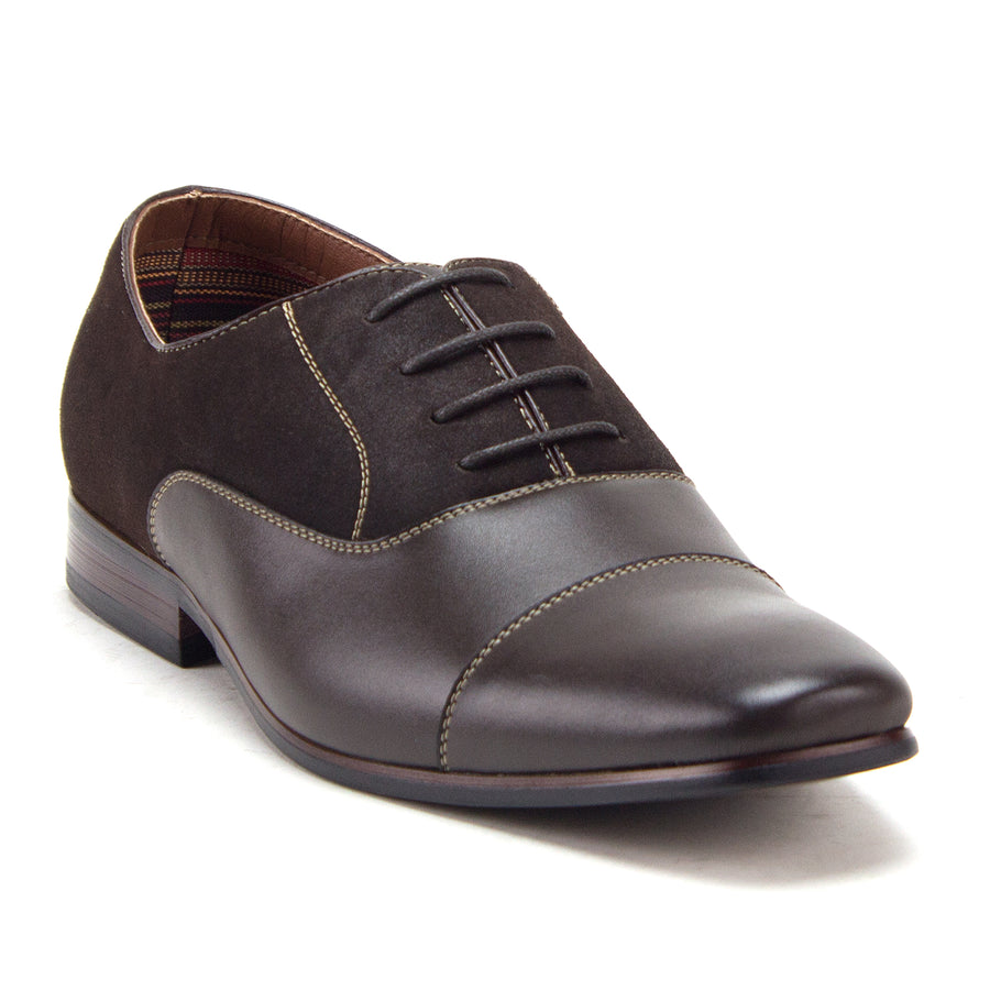 Men's 20617 Cap Toe Derby Oxfords Lace Up Casual Dress Shoes - Jazame, Inc.