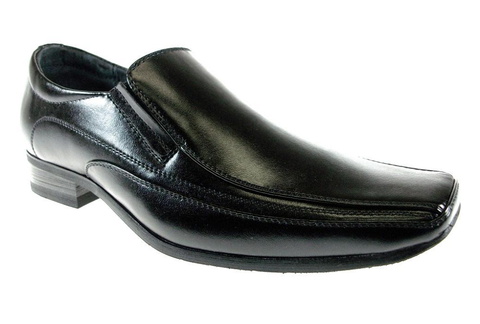 Boys Conal Classic Squared Toe Slip On Dress Loafers Shoes B-99030 Black-85