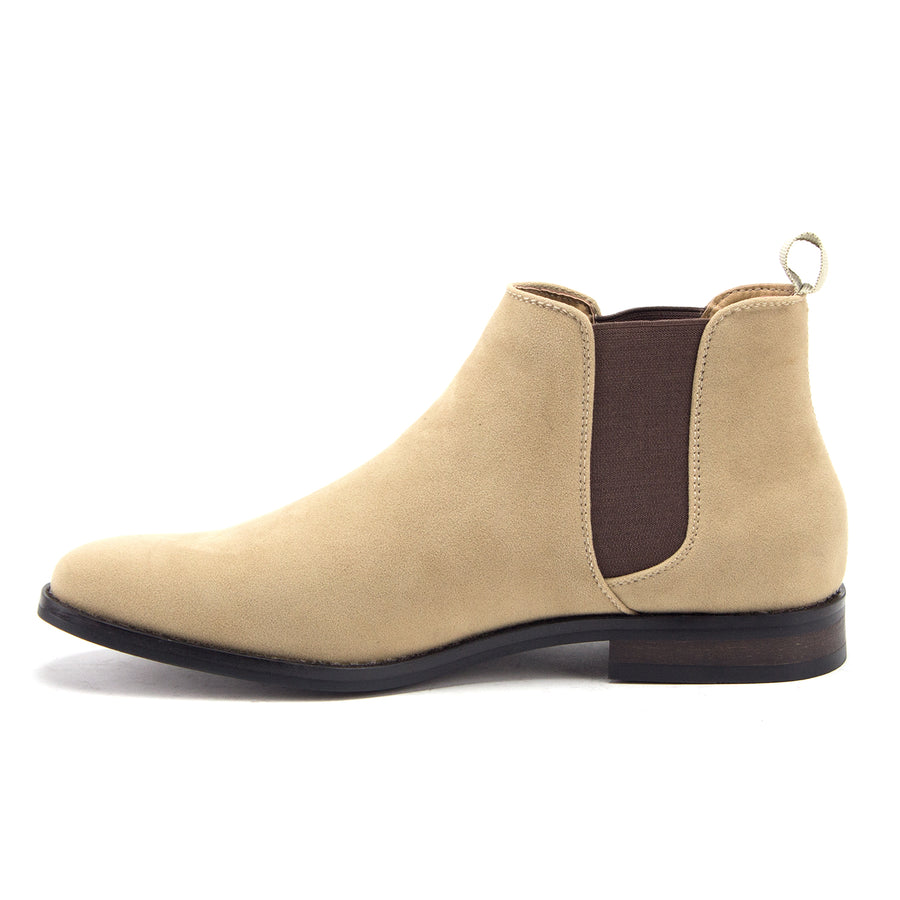 Men's B-2963 Chuck Nubuck Suede Pull-On Round Toe Chelsea Boots - Jazame, Inc.