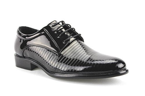Men's W2015-11 Formal Tuxedo Patent Leather Oxford Dress Shoes