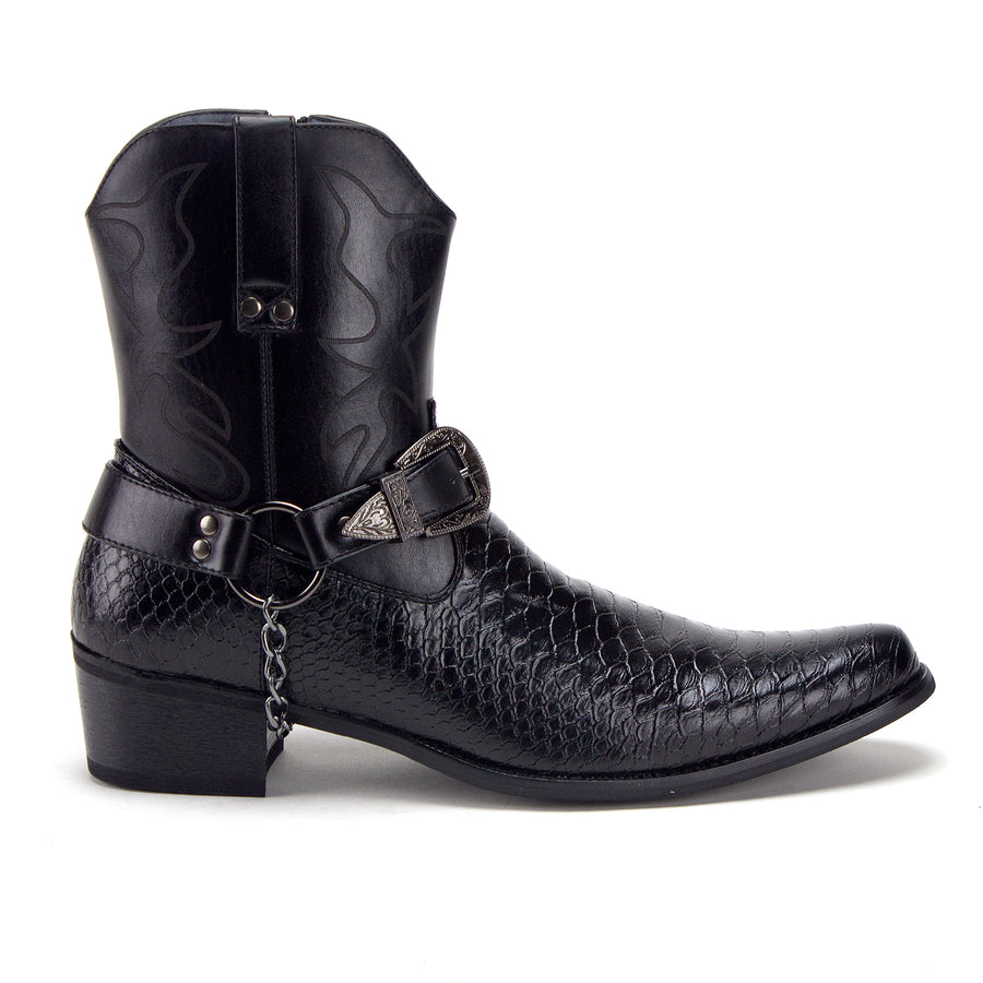Men's Western Crocodile Cowboy Riding Dress Boots - Jazame, Inc.