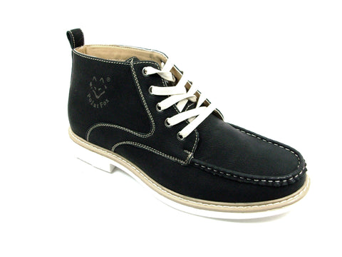 Men's Polar Fox Ankle High Lace Up Casual Boot 506011 Black-226 - Jazame, Inc.