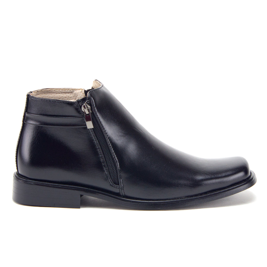 Men's 38307 Ankle High Double Zipped Classic Dress Boots