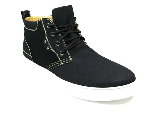 Mens Polar Fox Strap Suedette Black Shoes 30188
