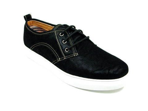 Mens Polar Fox Canvas Casual Sneakers Black Shoes 30191