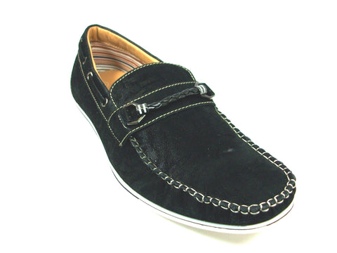 Mens Polar Fox Boat Casual Loafers Black Shoes 30218