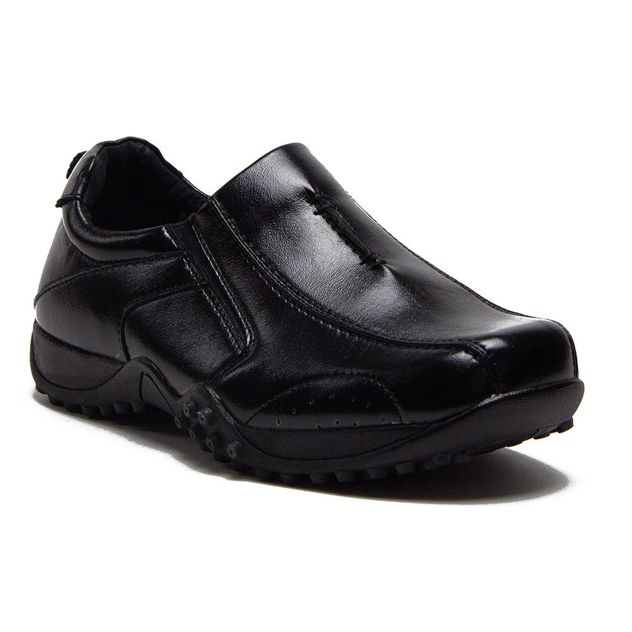 Boys Conal Driver Slip On Loafer Shoes K-6952 Black-37 - Jazame, Inc.