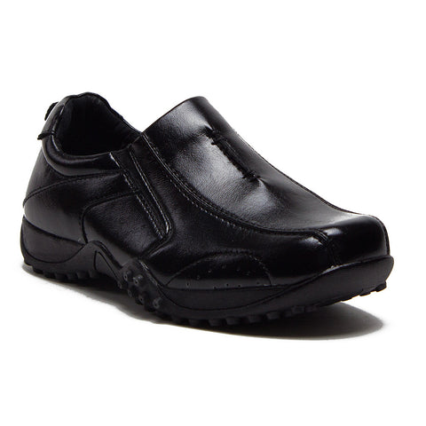 Boys Conal Driver Slip On Loafer Shoes K-6952 Black-37
