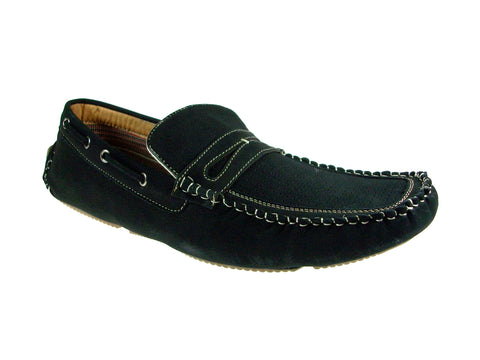 Mens Polar Fox Driver Casual Loafers Black Shoes 13005