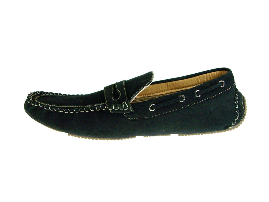 Mens Polar Fox Driver Moccasin Casual Loafers Shoes 13005 Black-523 - Jazame, Inc.