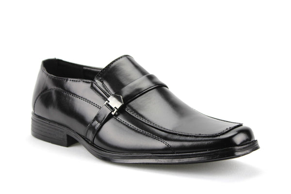 Men's 31334 Classic Square Toe Slip On Moc Toe Loafers Dress Shoes - Jazame, Inc.