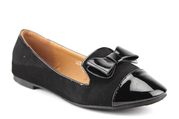 Women's Lory-2 Patent Leather Pointy Toe Slip On Smoking Flats Shoes - Jazame, Inc.