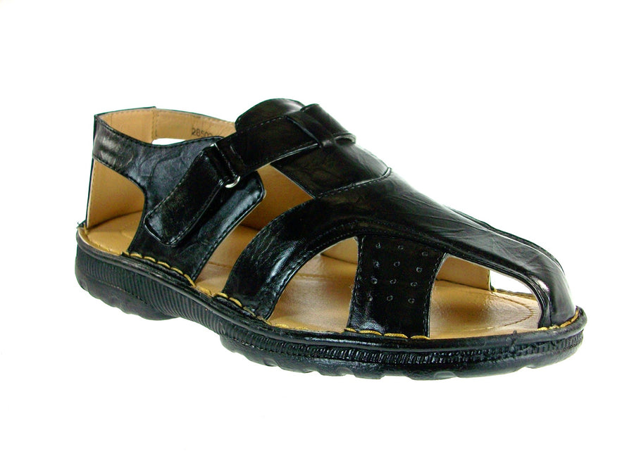 Mens Majestic Back Sling Caged Sandals 28502 Black - Jazame, Inc.