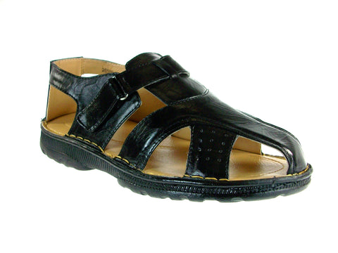 Mens Majestic Back Sling Caged Sandals 28502 Black