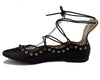 Women's Danielle Lace up Ankle High Ballet Flats Shoes - Jazame, Inc.
