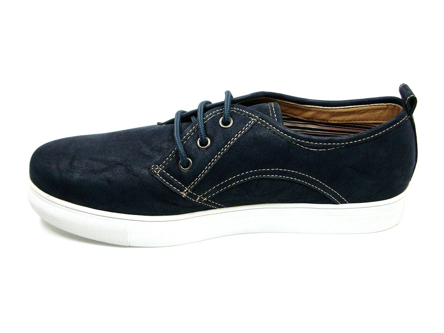 Mens Polar Fox Canvas Suedette Casual Sneakers Shoes 30191 Blue-379 - Jazame, Inc.