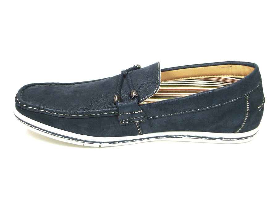 Mens Polar Fox Suedette Slip On Casual Loafers Shoes 30206 Blue-379 - Jazame, Inc.