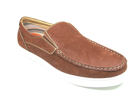 Mens Polar Fox Canvas Casual Loafers Brown Shoes 30198