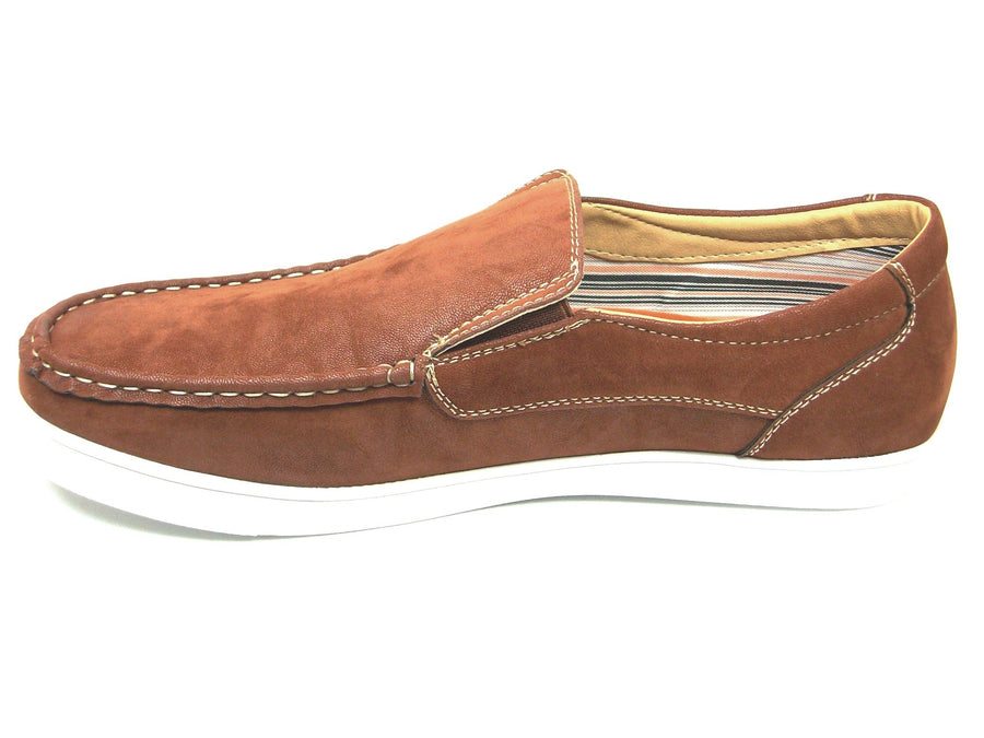 Mens Polar Fox Canvas Slip On Casual Loafers Shoes 30198 Brown-378 - Jazame, Inc.