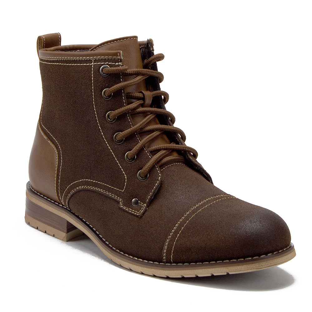 c8a95550492 Ferro Aldo Men's Lace Up Cap Toe Fashion Combat Boots 806032 - Jazame, Inc.