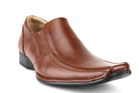 Mens Majestic Classic Slip On Dress Loafers Shoes 35187 Cognac