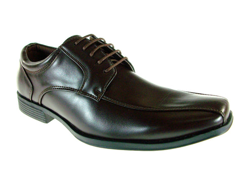 Mens Bonafini Classic Lace Up Dress Oxfords Shoes C-145 Dark Brown