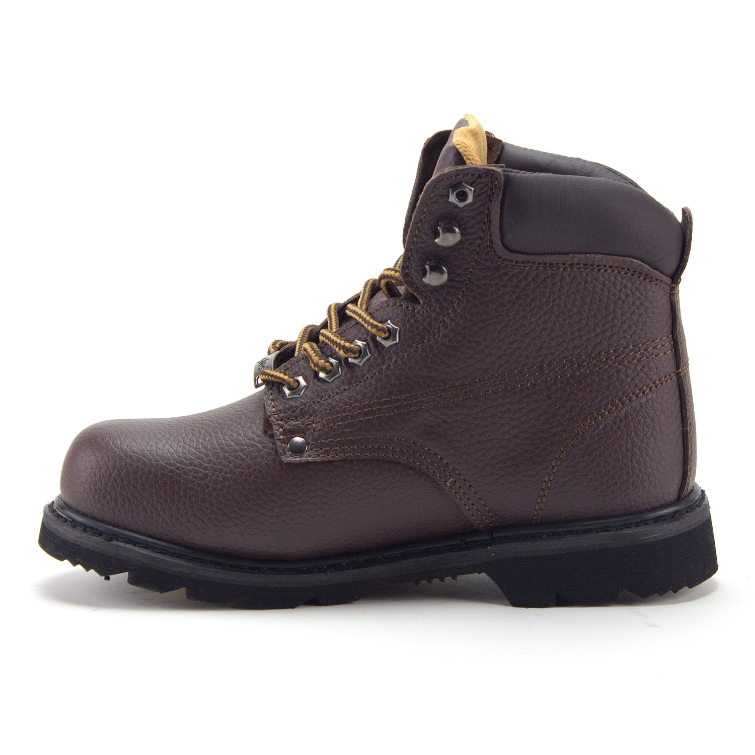 7eafeff7fab Men's 622S Genuine Leather Steel Toe Outdoor Construction Safety Work Boots