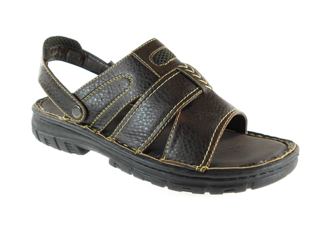 Mens Rocus Convertible Open Toe Casual Sandals San-17 Dark Brown