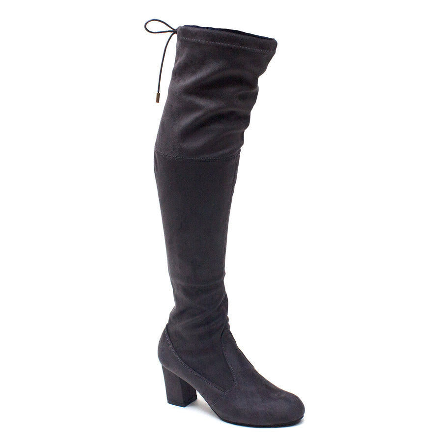 Women's Miles-02 Faux Suede Over The Knee OTK Tall Riding Dress Boots