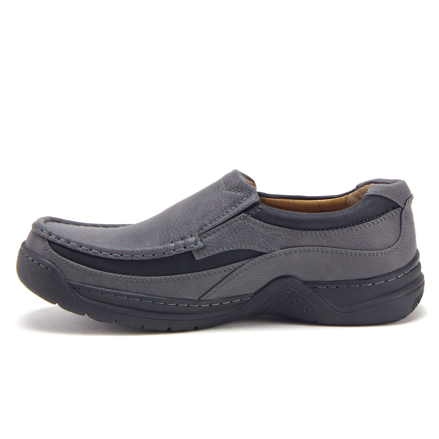 Mens Rocus Slip On Comfort Walking Loafers Shoes C-212 Grey - Jazame, Inc.