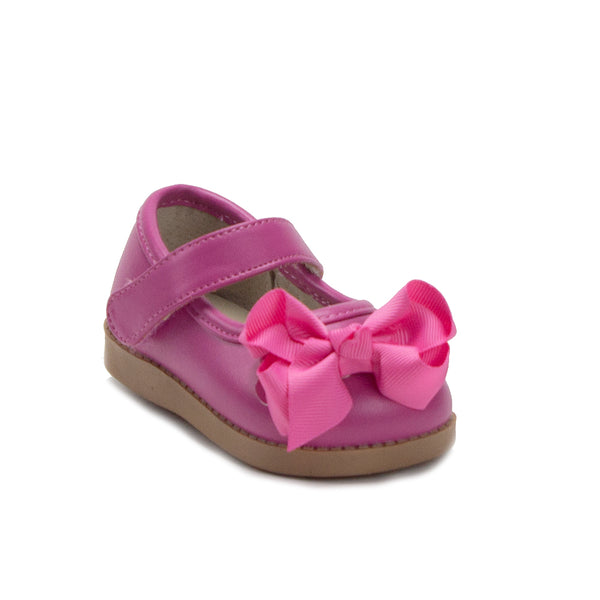 Mooshu Trainers Toddler Girls Princess Bow Mary Jane Squeaker Flats Shoes - Jazame, Inc.