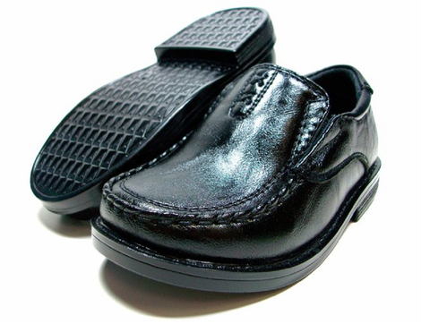 Toddlers Conal Round Toe Slip On Loafers Dress Shoes I-337 Black-83