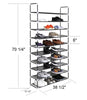 Jazame 10 Tier 50 Pair Shoe Rack Storage Organizer - Jazame, Inc.