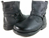 Boys Conal Ankle Distressed Ridding Boots K-5807 Black-162 - Jazame, Inc.