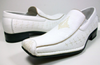 Boys Conal Squared Toe Dress Design Loafers Shoes K-61010 White-17 - Jazame, Inc.