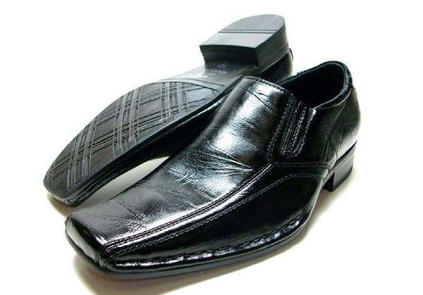 Boys Conal Squared Toe Slip On Loafers Dress Shoes K-61015 Black-82 - Jazame, Inc.